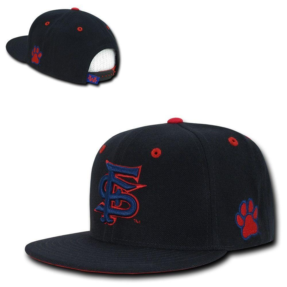 NCAA Fresno State U Bulldogs Retro Flat Bill Accent Snapback Baseball Caps Hats