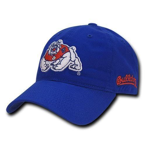 NCAA Fresno State University Bulldogs 6 Panel Relaxed Cotton Baseball Caps Hats