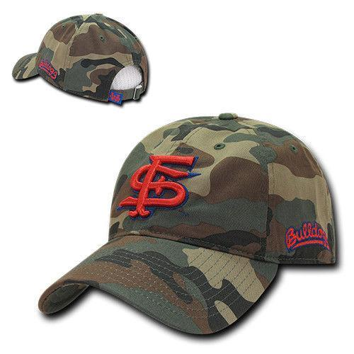 NCAA Fresno State University Bulldogs Relaxed Camo Camouflage Baseball Caps Hats