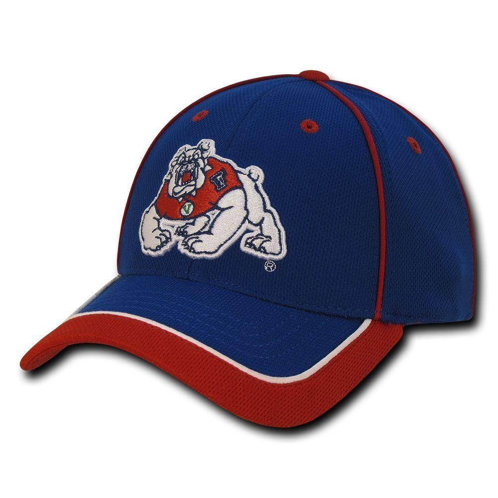 NCAA Fresno University Bulldogs Lightweight Structured Piped Baseball Caps Hats
