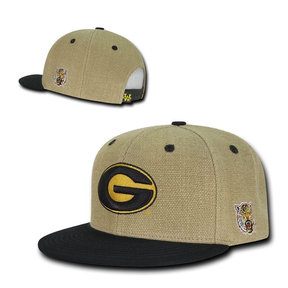 NCAA Grambling State Tigers University Constructed Heavy Jute Snapback Caps Hats