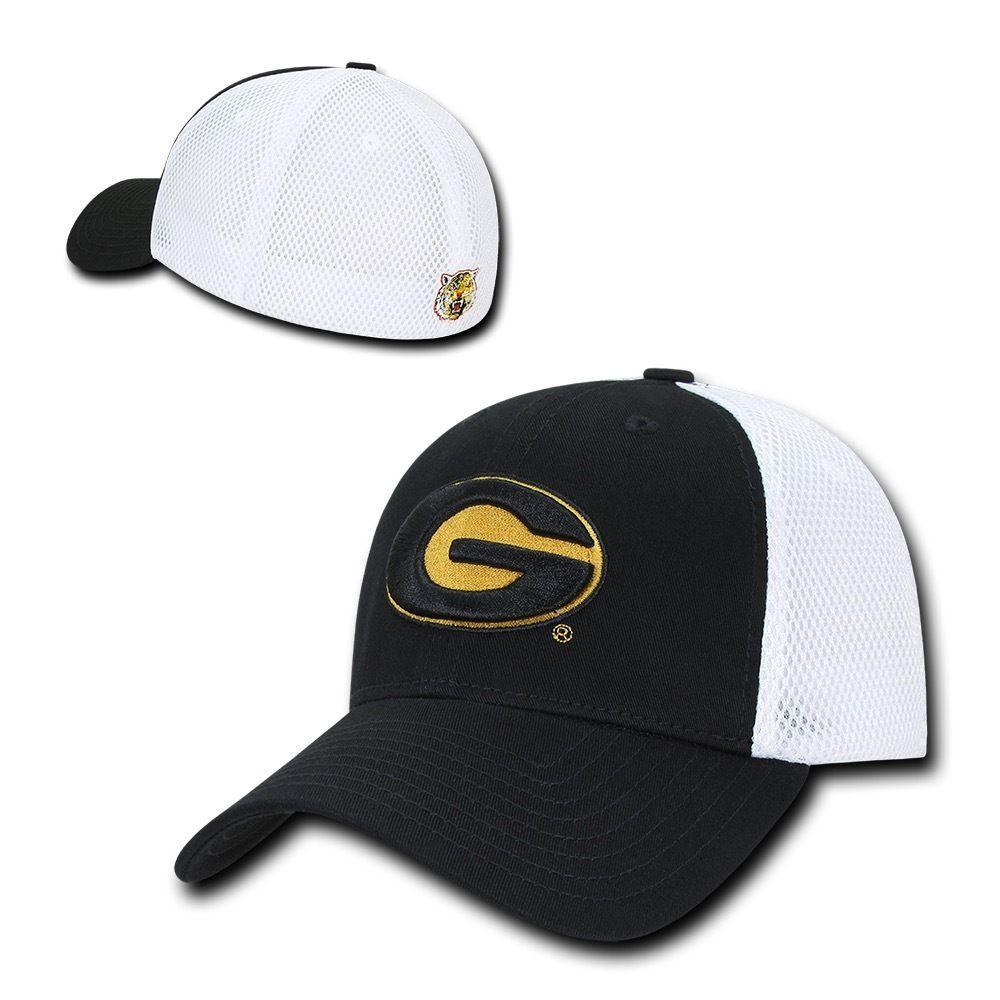 NCAA Grambling State Tigers University Structured Mesh Flex Baseball Caps Hats