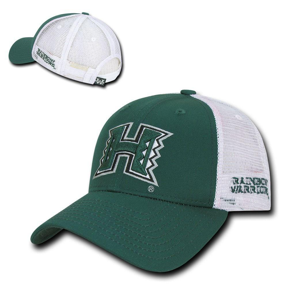 NCAA Hawaii U Rainbow Warriors Structured Trucker Baseball Caps Hats Hunter