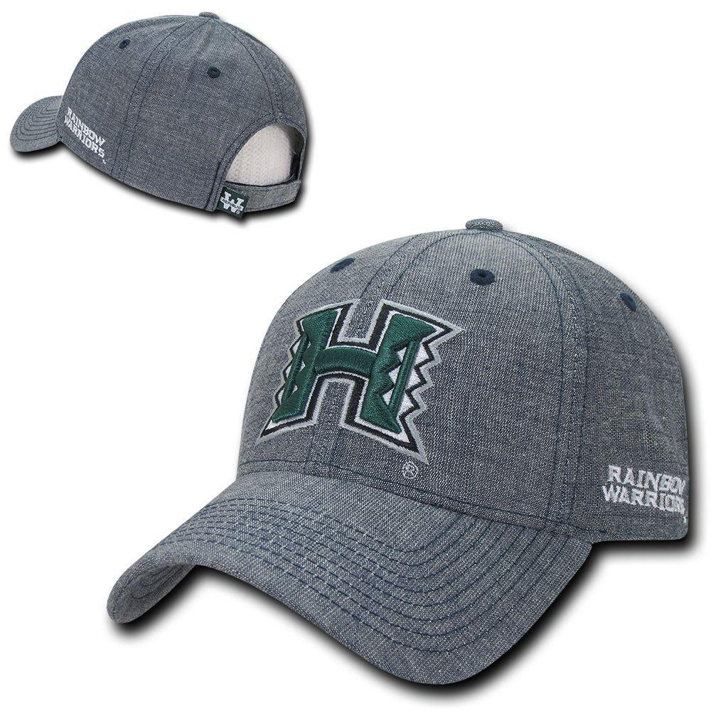 NCAA Hawaii University Rainbow Warriors Cotton Structured Denim Caps Hats Blue
