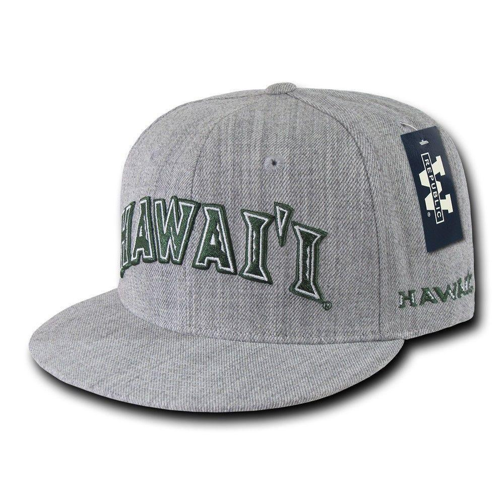 NCAA Hawaii University Rainbow Warriors Game Day Fitted Caps Hats