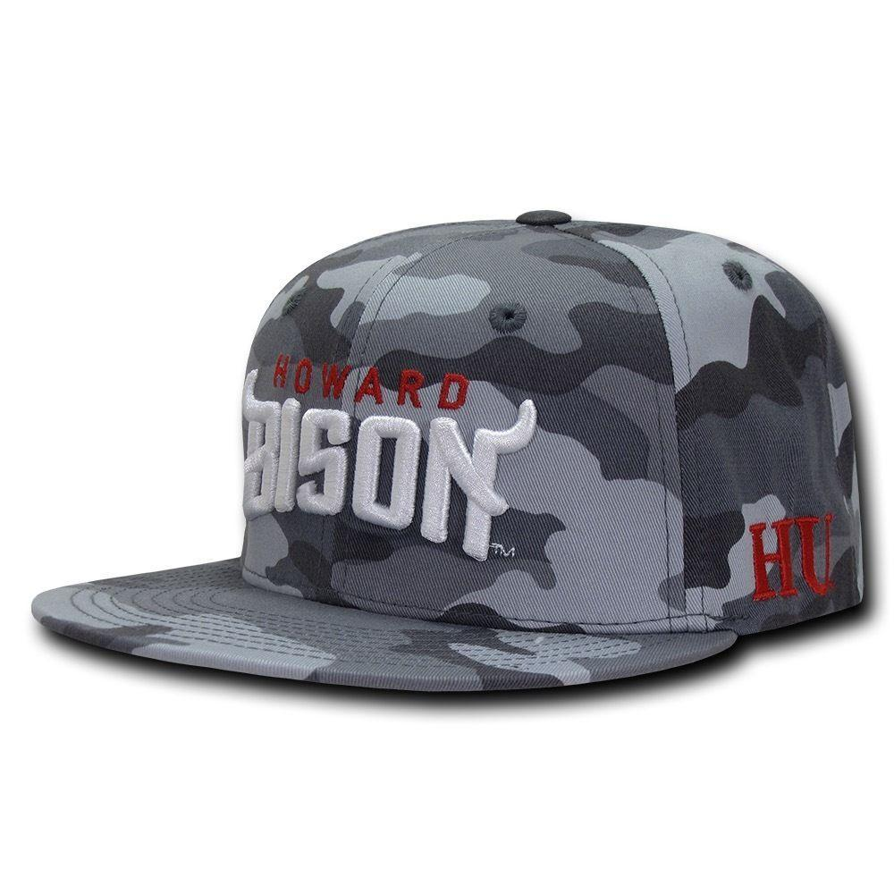 NCAA Howard University Bison Camo Camouflage Snapback Baseball Caps Hats