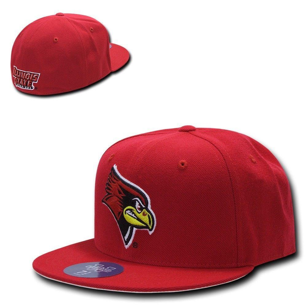 NCAA Illinois State Redbirds University College Fitted Caps Hats Red
