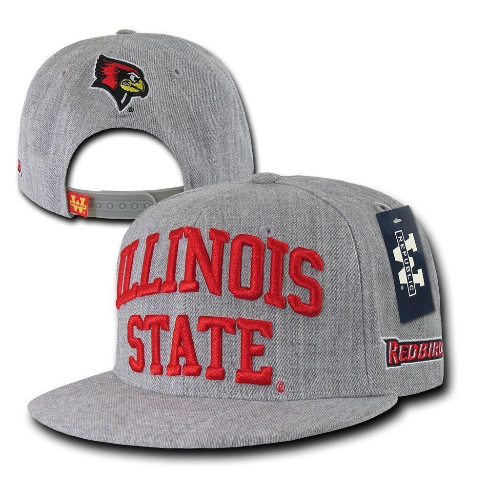 NCAA Illinois State University Redbirds Game Day Snapback Caps Hats Heather Grey