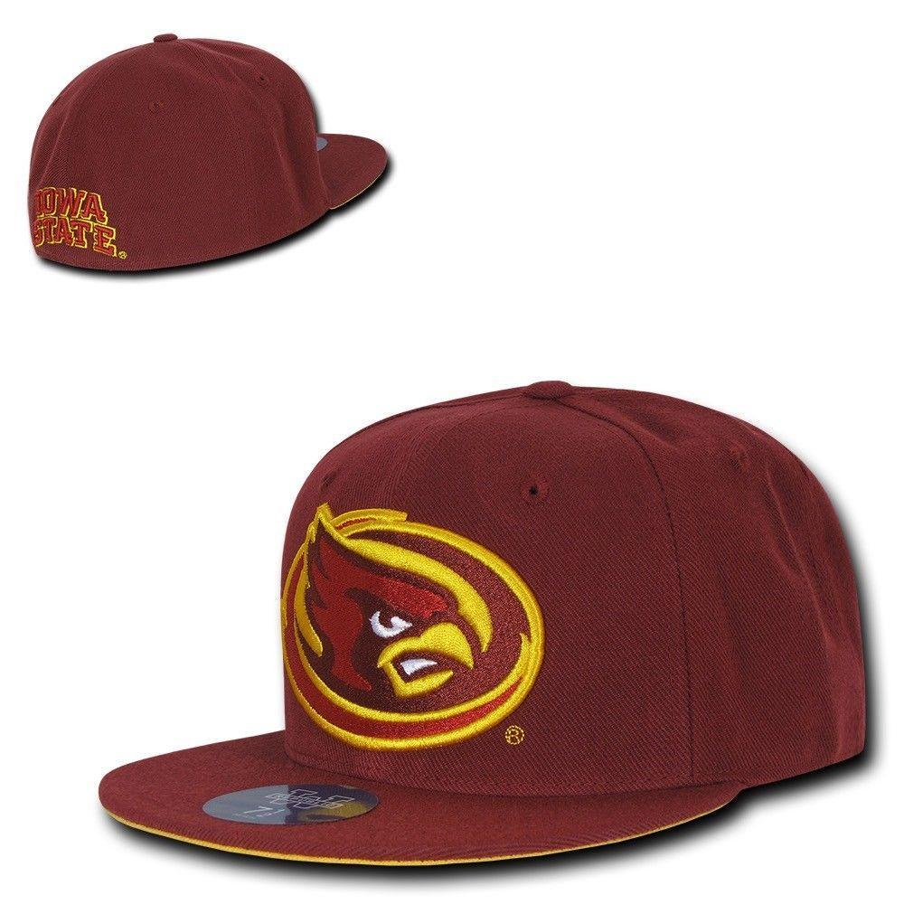 NCAA Iowa State Cyclones University College Fitted Caps Hats Cardinal