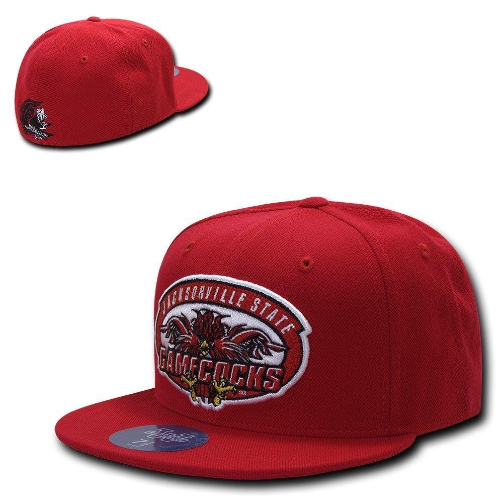 NCAA Jsu Jacksonville State Gamecocks University College Fitted Caps Hats Red