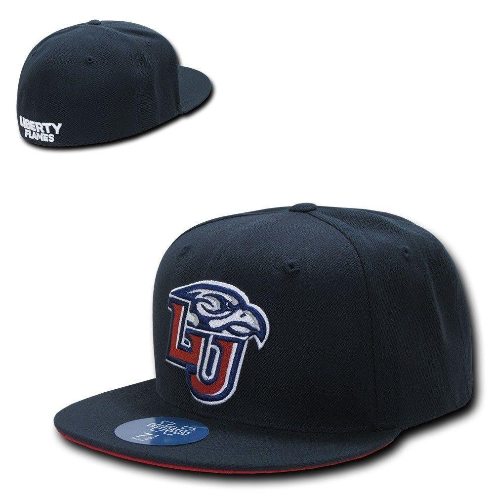 NCAA Liberty Flames University College Fitted Caps Hats Navy