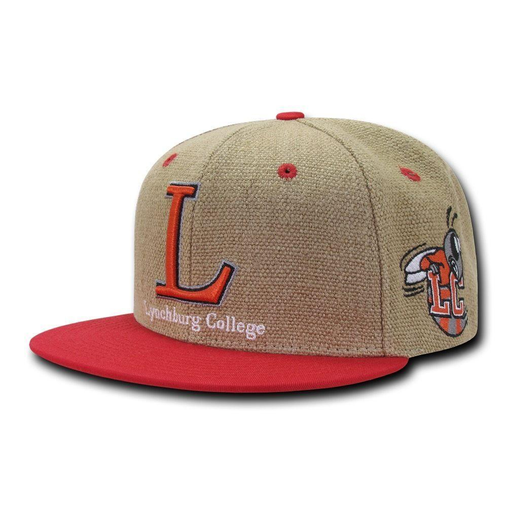 NCAA Lynchburg College 6 Panel Constructed Heavy Jute Snapback Caps Hats Red
