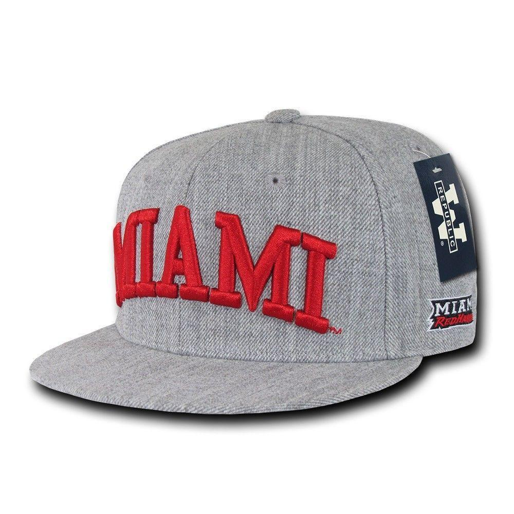 NCAA Miami University Red Hawks Game Day Fitted Caps Hats
