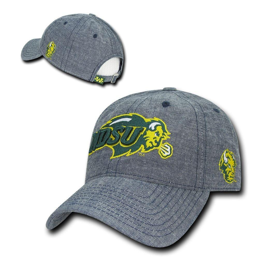 NCAA Ndsu North Dakota State Bison University Relaxed Denim Baseball Caps Hats
