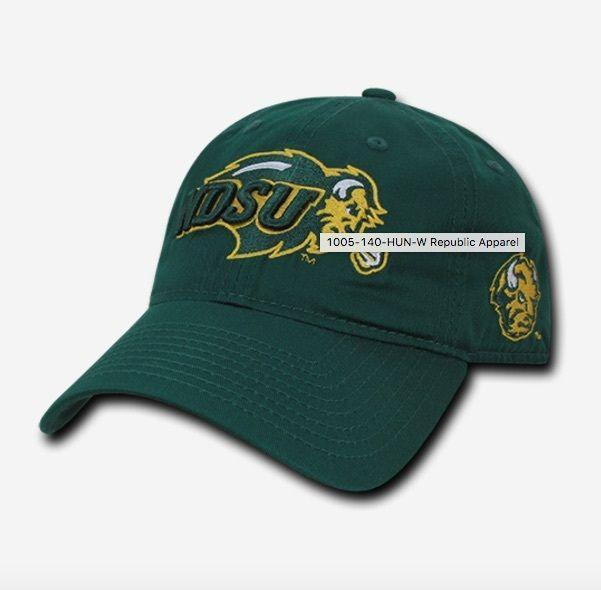 NCAA Ndsu North Dakota State University 6 Panel Relaxed Cotton Baseball Caps Hat