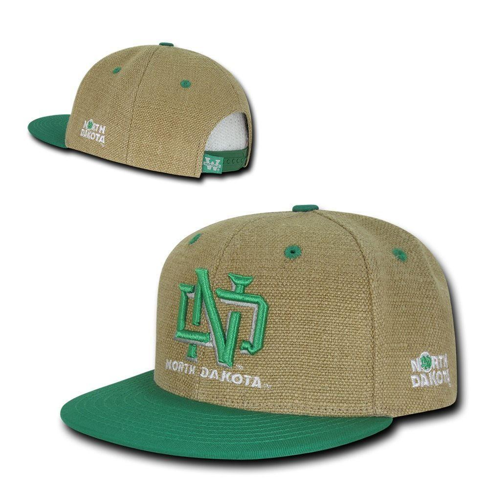 NCAA Ndu North Dakota University 6 Panel Heavy Jute Snapback Caps Hats