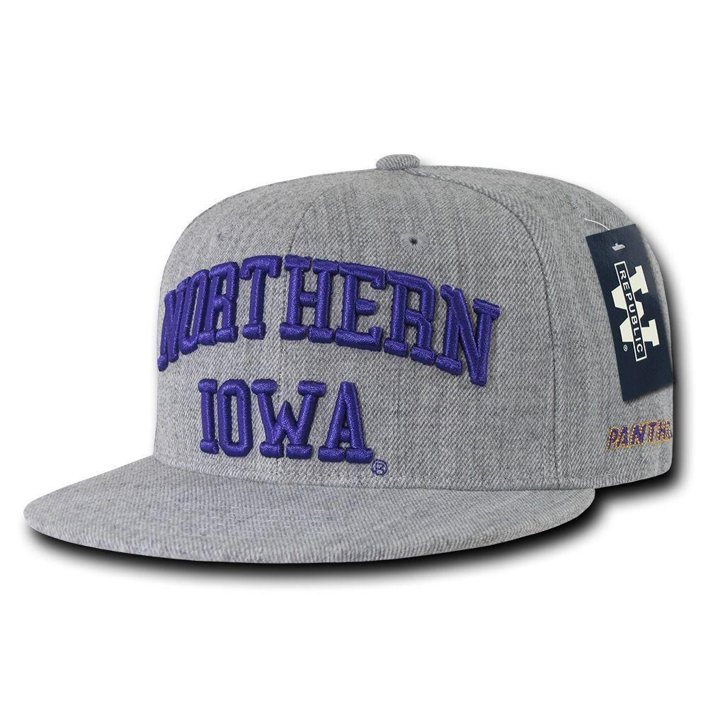 NCAA Northern Iowa University Panthers 6 Panel Game Day Snapback Caps Hats