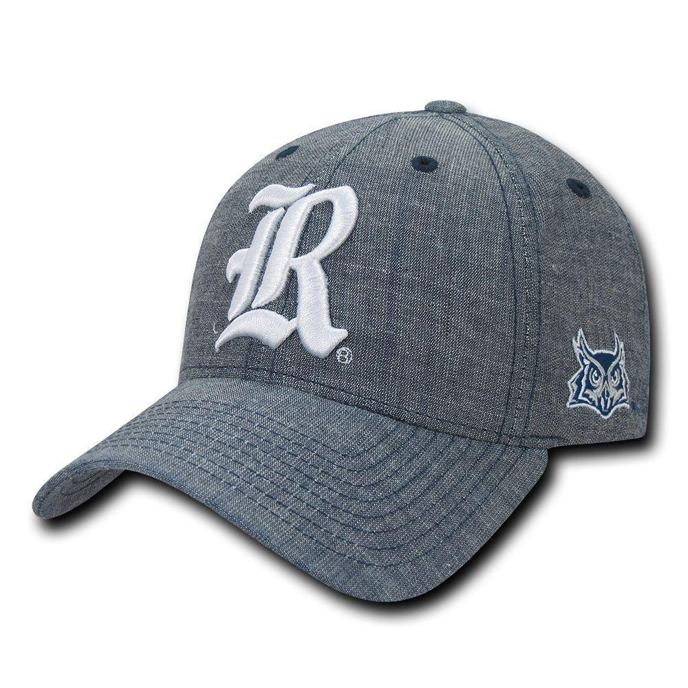 NCAA Rice Owls University 6 Panel Cotton Structured Denim Baseball Caps Hats