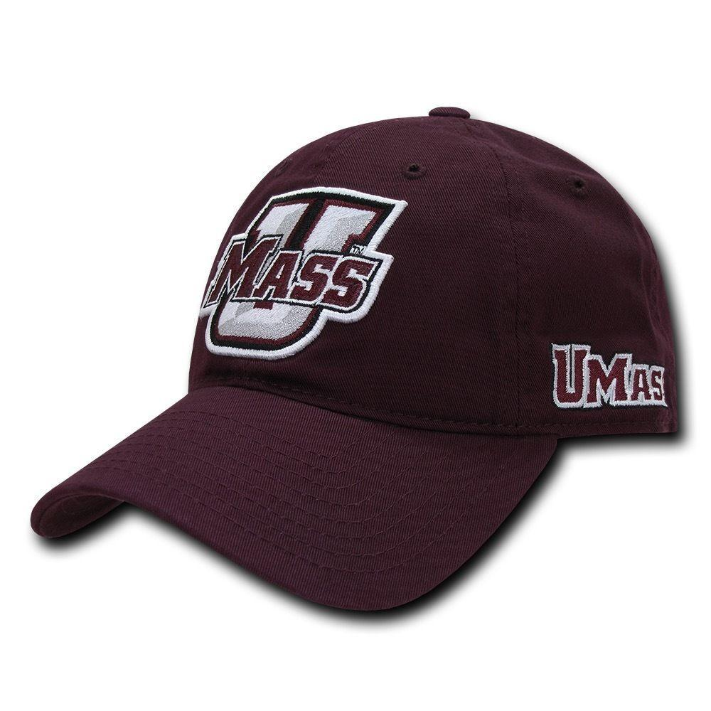 NCAA U Mass University Of Massachusetts 6 Panel Relaxed Cotton Baseball Caps Hat
