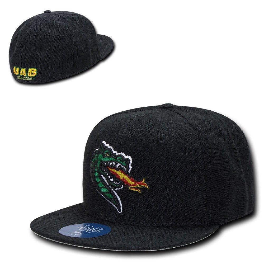 NCAA Uab University Of Alabama Blazers Birmingham College Fitted Caps Hats Black
