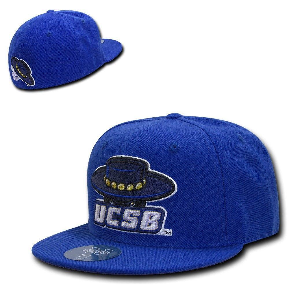 NCAA UCSB Uc Santa Barbara Gauchos Fitted Caps Hats Blue