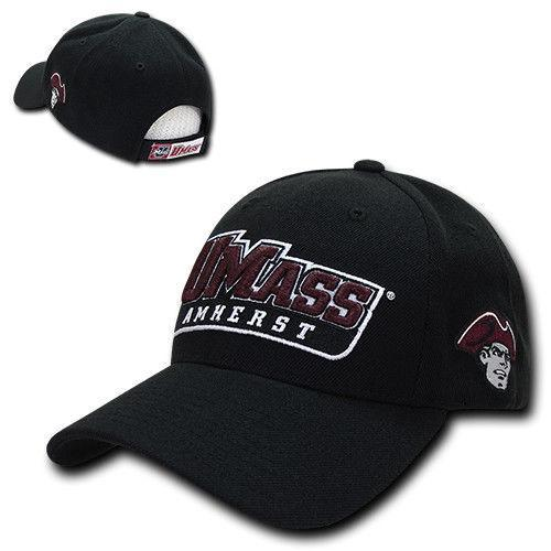 NCAA Umass University Of Massachusetts Structured Baseball 6 Panels Caps Hats