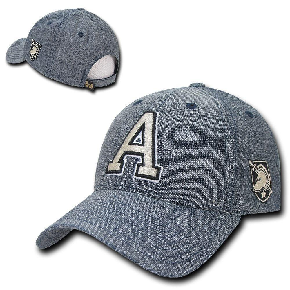 NCAA United States Military Academy Structured Denim Baseball Caps Hats Blue