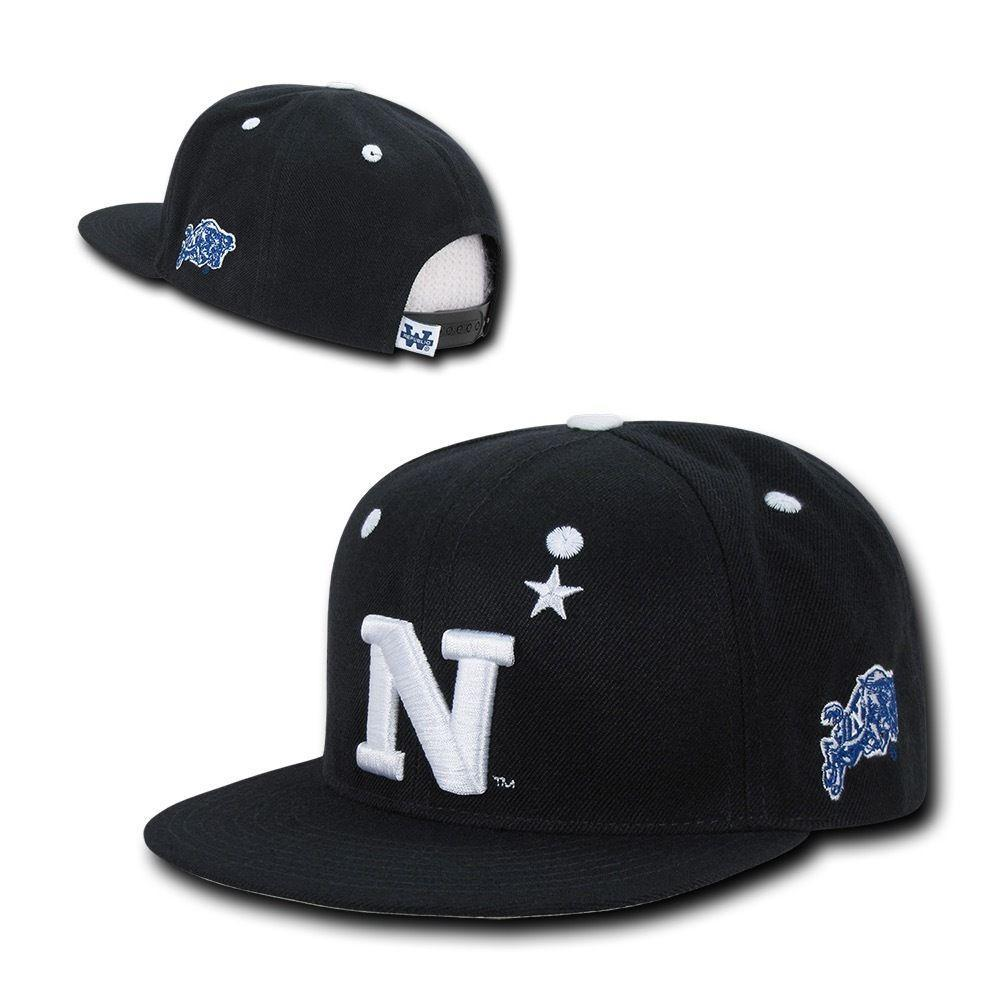 NCAA United States Naval Academy Flat Bill Accent Snapback Baseball Caps Hats