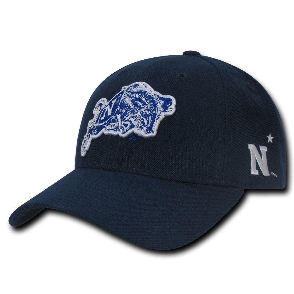 NCAA United States Naval Academy Structured Acrylic 6 Panel Baseball Caps Hats