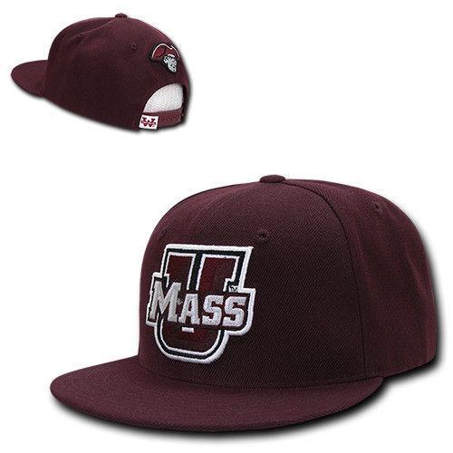 NCAA University Of Massachusetts 6 Panel Freshmen Snapback Caps Hats Maroon