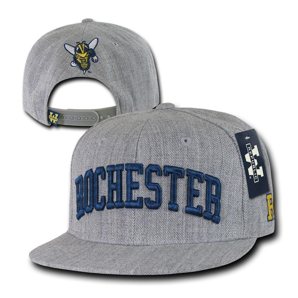 NCAA University Of Rochester Yellowjackets 6 Panel Game Day Snapback Caps Hats