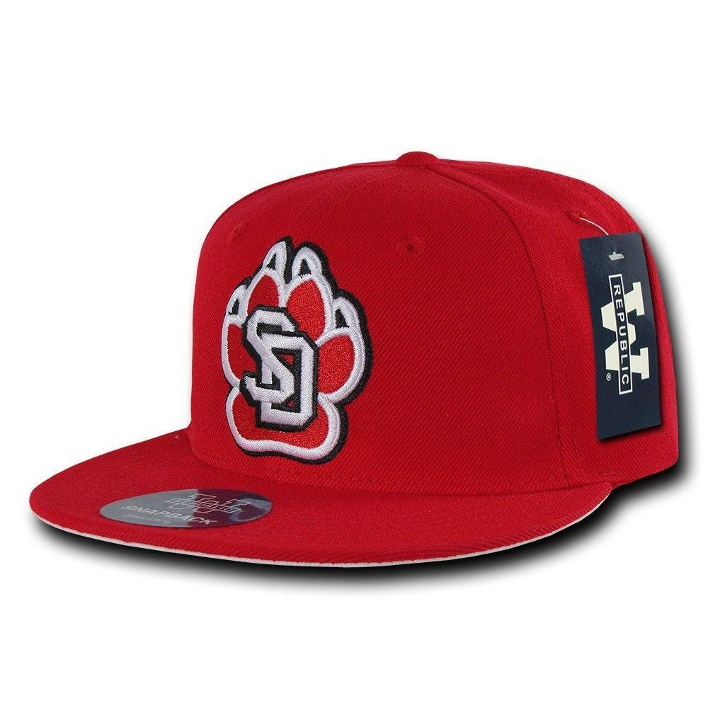 NCAA University Of South Dakota Coyotes College Fitted Caps Hats Red