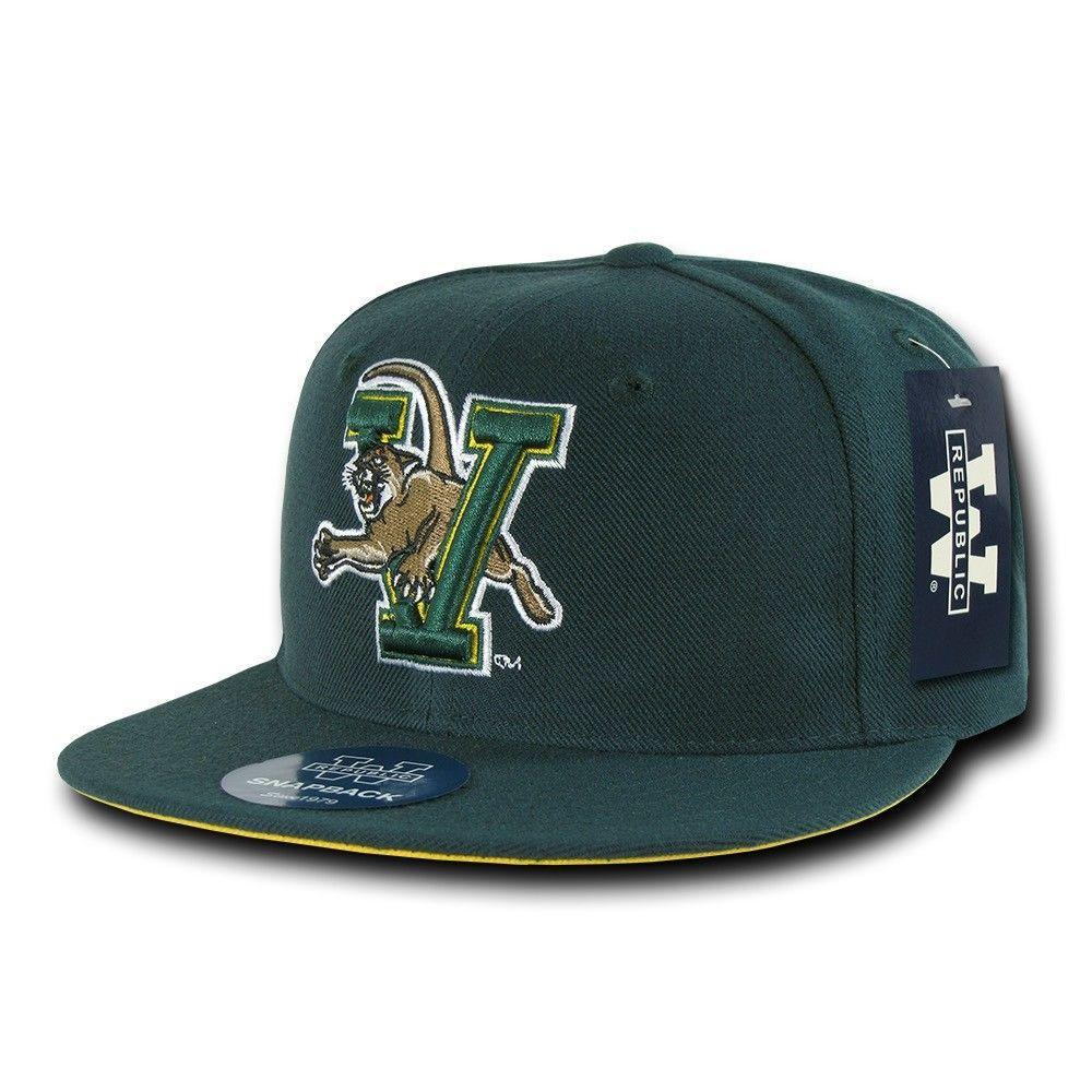 NCAA University Of Vermont Catamounts College Fitted Caps Hats Green