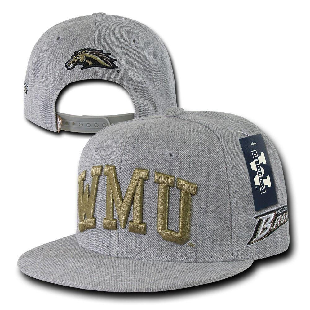 NCAA Wmu Western Michigan University Broncos Game Day Snapback Caps Hats