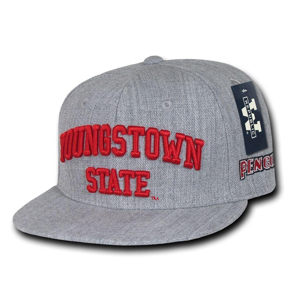NCAA Youngstown State University Penguins 6 Panel Game Day Snapback Caps Hats