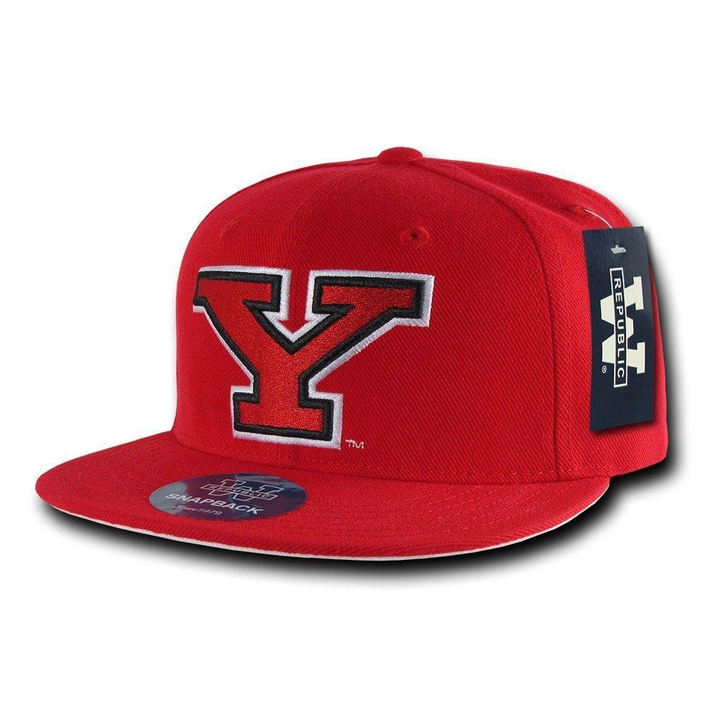 NCAA Youngstown State University Penguins Fitted Caps Hats Red