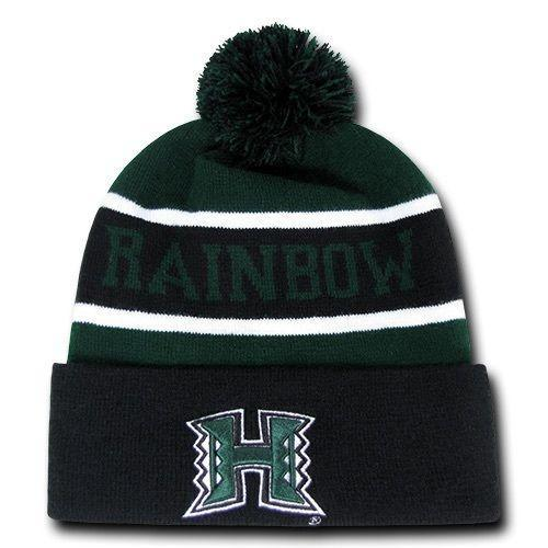 The Legend Beanie, University Of Hawaii Rainbow Warrior Black/Hunter Green