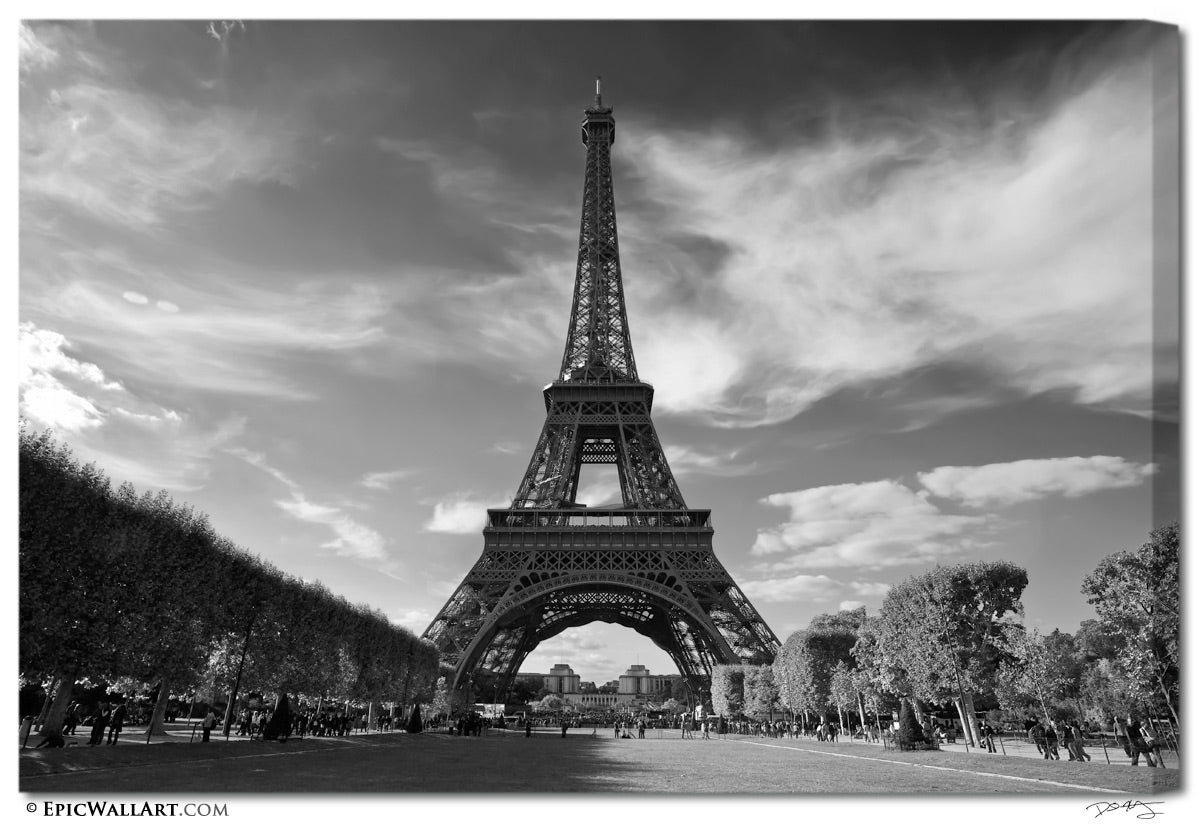 """Eiffel Tower Images Black And White: """"The Eiffel Tower"""" Paris Black & White Fine Art Gallery"""