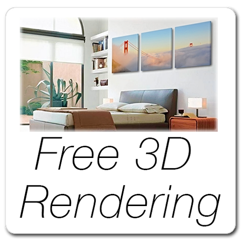 Free 3D Wall Art Rendering