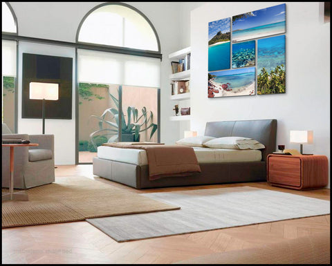 """Tropical Illusions"" Fiji 5-Piece Gallery Wrapped Canvas Wall Display"