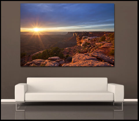 """The Canyon Sun"" Canyonlands Fine Art Gallery Wrapped Canvas Print"