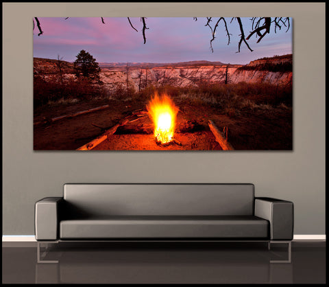 """Zion Fire"" Utah Fine Art Gallery Wrapped Canvas Print"