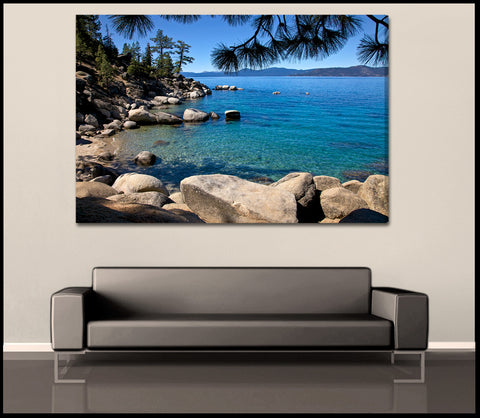 """Tahoe Shoreline"" Lake Tahoe Fine Art Gallery Wrapped Canvas Print"