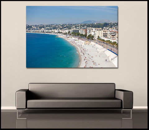 """French Riviera Coastline"" Nice Fine Art Gallery Wrapped Canvas Print"