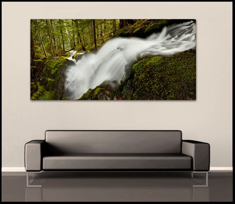 """The Flowing Forest"" Mt Rainier Fine Art Gallery Wrapped Canvas Print"