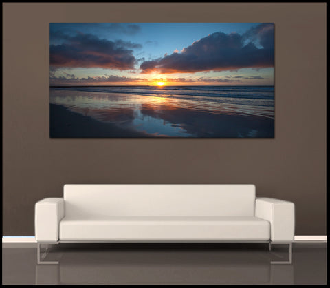 """South Mission Beach Sunset"" San Diego Fine Art Gallery Wrapped Canvas Print"