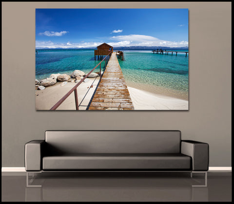 """Tahoe Cabin"" Lake Tahoe Fine Art Gallery Wrapped Canvas Print"