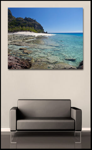 """Snorkeling in Paradise"" Fiji Fine Art Gallery Wrapped Canvas Print"