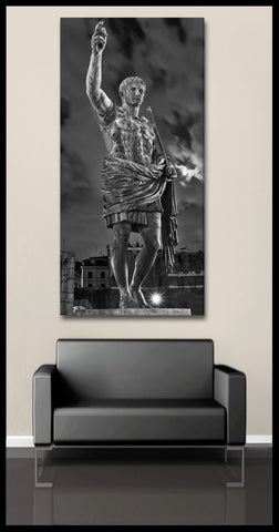 """God of Rome"" Black & White Fine Art Gallery Wrapped Canvas Print"