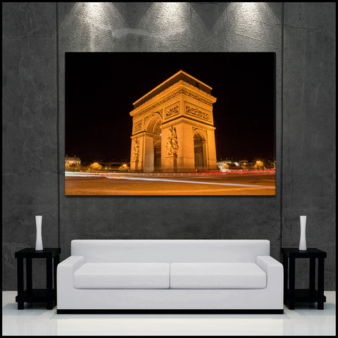 """Arc du Triomphe"" Paris Fine Art Gallery Wrapped Canvas Print"
